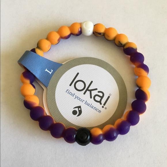 Lokai Jewelry - Orange & Purple Lokai (many sizes)